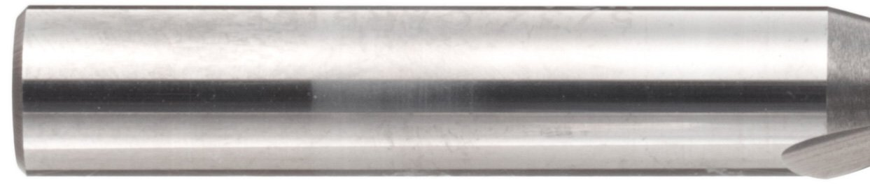 25 Deg Helix Finish 1 Flutes Uncoated Melin Tool ARMG Carbide Square Nose End Mill Bright 0.5 Shank Diameter 0.5000 Cutting Diameter 3 Overall Length