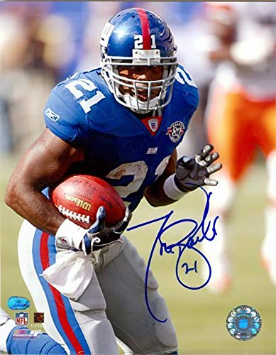 Signed Tiki Barber Photograph - Teams All Time Leading Rusher size 8x10 image #16 - Autographed NFL Photos