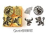 Game of Thrones inspired Hand carved rubber stamp set 2. House Targaryen. House Stark. House Lannister. House Baratheon Sigils