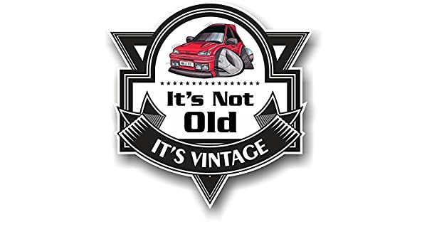 CT Design Koolart dibujos no es ha antiguos vintage Slogan para Retro MK3 Ford Fiesta RS Turbo RST diseño coche del vinilo insignia Pegatina Decal 100 x ...