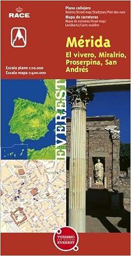 Mérida, El Vivero, Miralrío, Proserpina y San Andrés. Plano