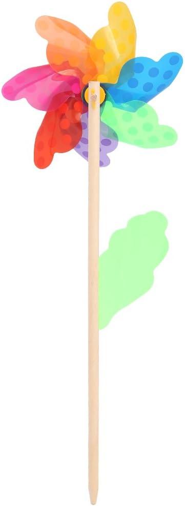 Autone Colorful Pinwheel Wind Wind Spinner Windmill Home Garden Yard Decor Kids Toys