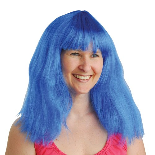 DollarItemDirect Blue NEON Costume Wig , Sold by 12 Pieces -