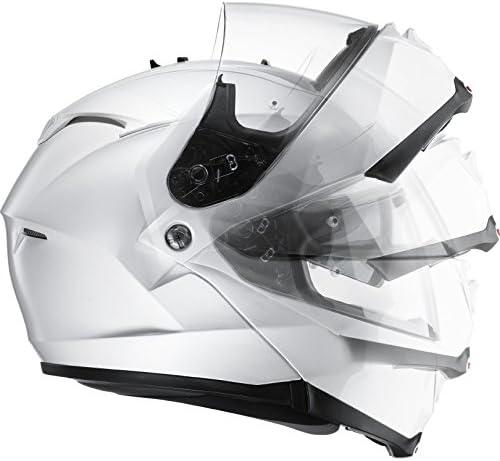 Medium HJC IS-MAX II Aufklappbar Vorne Motorrad Helm Wei/ß