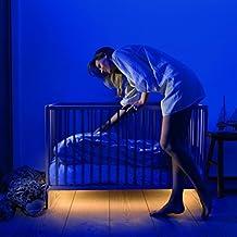 Motion Activated Bed Light, Minger-Lighting LED Strip Light Multi Purpose Night Light with Motion Sensor & Light Sensor Warm White