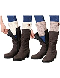 Womens Leg Warmers Crochet Boot Socks Topper Cuffs