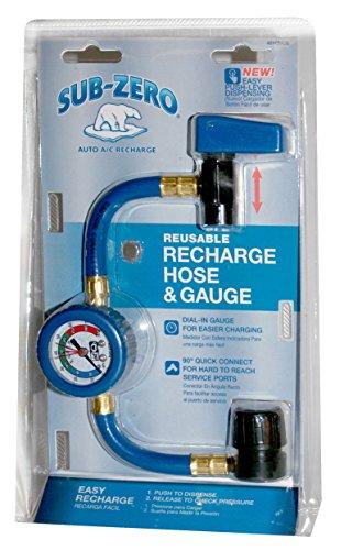 Sub-Zero Reusable Auto A/C Recharge Hose & Gauge, (Auto Recharge)