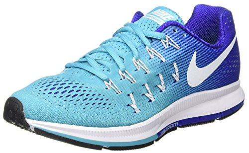 Nike Wmns Air Zoom Pegasus 33, Zapatillas de Running para Mujer Azul (Gamma Blue / White-concord-black)