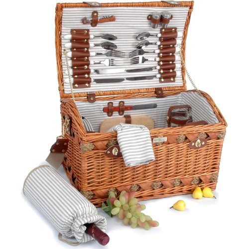 The Couture Collection (B) Deluxe Picnic Basket for 4