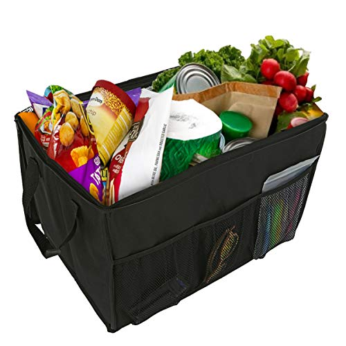 Lebogner Insulated Reusable Grocery Shopping Bag, X-Large Premium Quality Collapsible Tote Cooler Box With Reinforced Handles And Sturdy Zipper, Stands Upright, Warm or Cold Food Delivery Bag