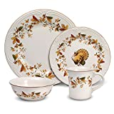 Cheap Pfaltzgraff Autumn Berry 32 Piece Dinnerware Set, Service for 8