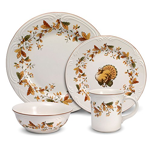 Pfaltzgraff Autumn Berry Dinnerware Set (32 Piece)  sc 1 st  Amazon.com & Thanksgiving Dinnerware Sets: Amazon.com