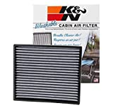 K&N VF2003 Washable & Reusable Cabin Air Filter Cleans and Freshens Incoming Air for your Toyota