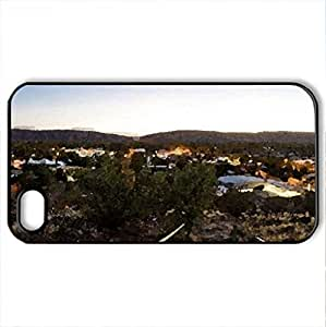 anzac hill overlooking alice springs australia - Case Cover for iPhone 4 and 4s (Houses Series, Watercolor style, Black) by lolosakes