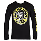 Gas Monkey Garage Best Deals - Gas Monkey Equipped Logo Long Sleeved T-Shirt - Black (X-Large)