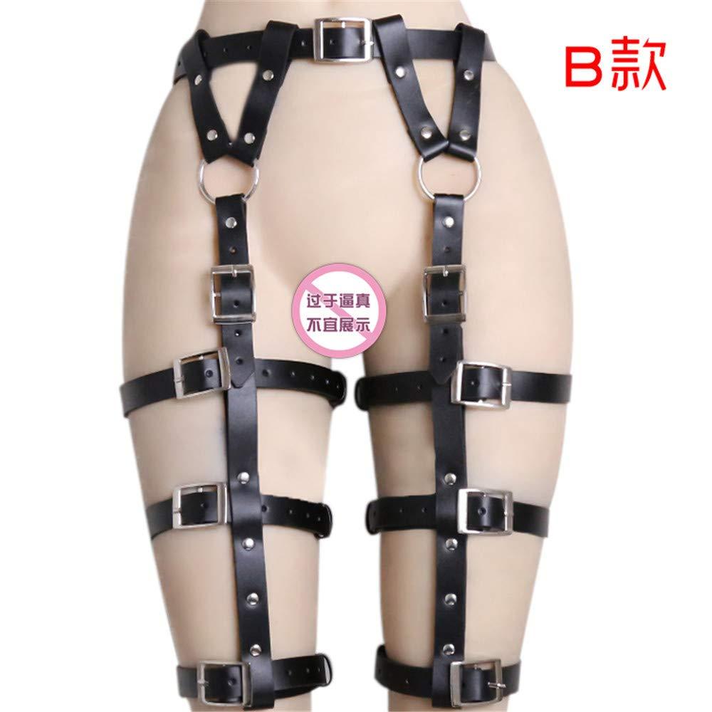KEDCD  Bondage Pantalones cuero, de cuero, Pantalones reina, polainas, parejas alternativas, ligar, ligas de juguete, ropa interior, rocío sexy, B 6c3ffb
