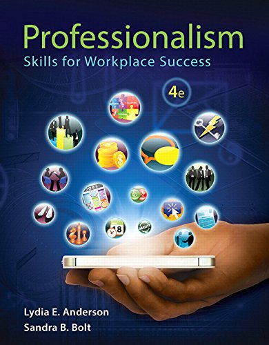 Professionalism: Skills for Workplace Success (4th Edition) by Pearson