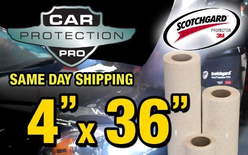 3M Scotchgard Clear Bra Paint Protection Bulk Film Roll 4-by-36-inches 4333118926