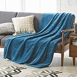 Better Homes and Gardens Oversized Corsair Polyester Reversible Velvet Plush Throw Blanket