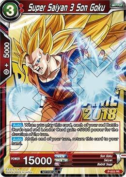 (Dragon Ball Super TCG - Super Saiyan 3 Son Goku (Event Pack 2018) - P-003 - PR - Foil -)