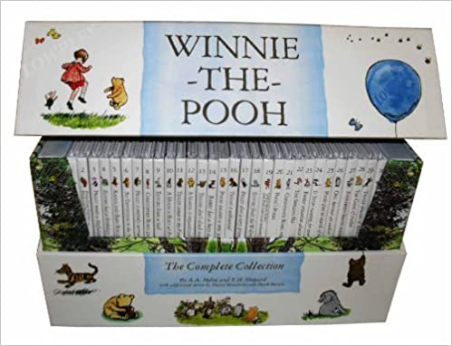 Winnie The Pooh Complete Collection 30 Books Box Set Slipcase A A Milne by Amazon