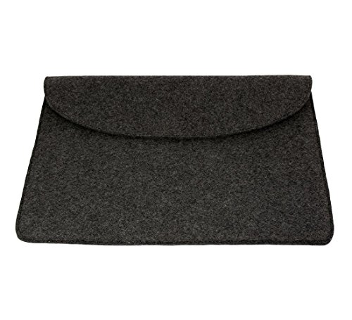Mojopanda Virgin Organic Wool Felt 13-13.5 Inch Macbooks, Laptop Grey Sleeve Case Carrying Bag With 2 Back Pouches For Mobile Phones And An Inner Packet For Tab, Ipad Or Power Chord. by MOJO PANDA (Image #6)'