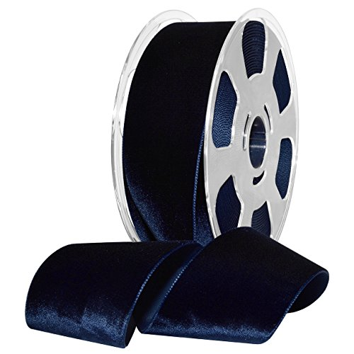 Morex Ribbon 01250/10-419 Nylon Nylvalour Velvet Ribbon, 2