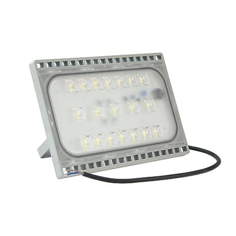 WISD 50W LED Focos de Exterior, IP65 Ultralight Ultraslim Proyector Reflector, Para Jardín,