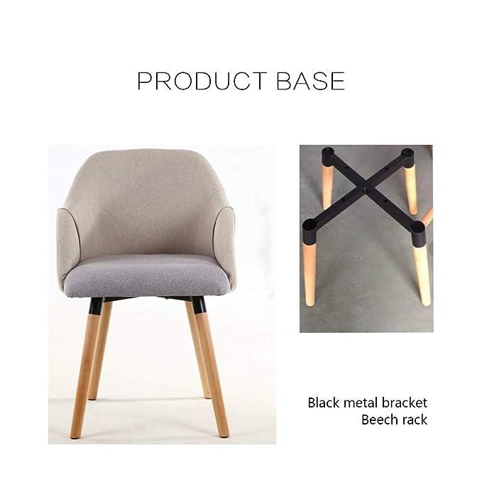 Amazon.com: BGTRRYHY - Juego de 2 sillas de madera de haya ...