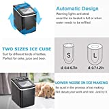 Antartic Star Countertop Portable Ice Maker Machine with Self-clean Function, 9 Ice Cubes Ready in 8 Minutes,Makes 26 lbs of Ice per 24 hours,with LCD Display