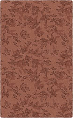 Brumlow Mills Entwined In Red Simple Floral Area Rug, 7 6 x 10 ,