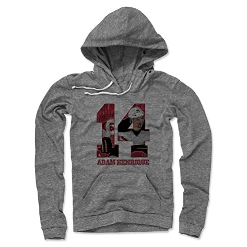 500 LEVEL's Adam Henrique Women's Light Hoodie M Gray - New Jersey Hockey Fan Gear Officially Licensed by the NHL Players Association - Adam Henrique Game R