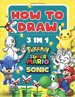 super mario all characters drawing