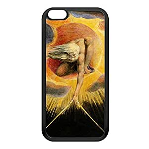 Europe a Prophecy by William Blake Black Silicon Rubber Case for iPhone 6 Plus by Painting Masterpieces + FREE Crystal Clear Screen Protector