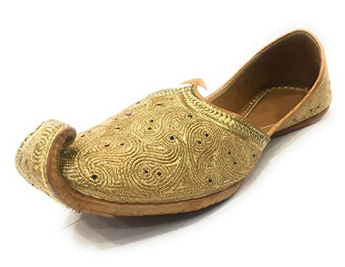 Step n Style Mens Juti Indian Traditional Handmade Khussa Men Shoes Wedding Mojari by Step n Style