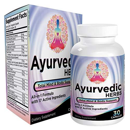 Ayurvedic Herbs (All-in-1) Supplement Formula Pills – Ayurveda Mind, Body, Spirit Supplements – Herbal Blend/Complex…