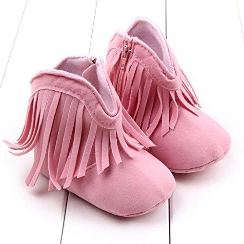 Tefamore Zapatos niña ,botas de nieve cálida de Borla Rosa