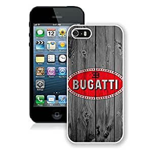 Fashionable Bugatti logo 1 iPhone 5 5s 5th Generation Case in White