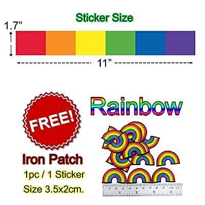 Gay Pride Rainbow STICKER DECAL VINYL BUMPER Flag Vertical Stripes equality LGBT DÉCOR CAR TRUCK LOCKER WINDOW WALL NOTEBOOK: Arts, Crafts & Sewing
