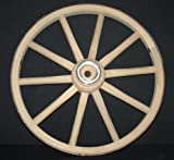 gun buggy shooting cart - Functional - Wood Wagon Wheel - Small Cart Wooden Wagon Wheels - 14 inch with 10 staggard spokes and 1/2 inch steel sleeve axle hole