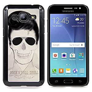 - Elvis Rock Roll Skull Cool Music Star - - Snap-On Rugged Hard Cover Case Funny HouseFOR Samsung Galaxy J2