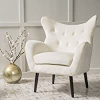 Christopher Knight Home 298852 Alyssa Arm Chair, Ivory