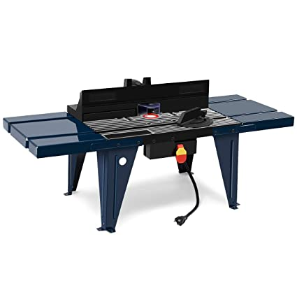 Goplus Electric Aluminum Router Table Wood Working Craftsman Tool