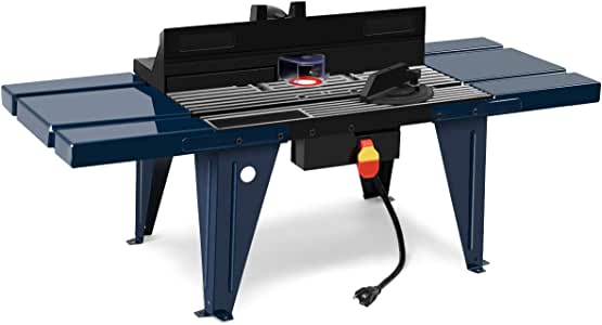 Goplus Electric Aluminum Router Table Wood Working Craftsman Tool Benchtop
