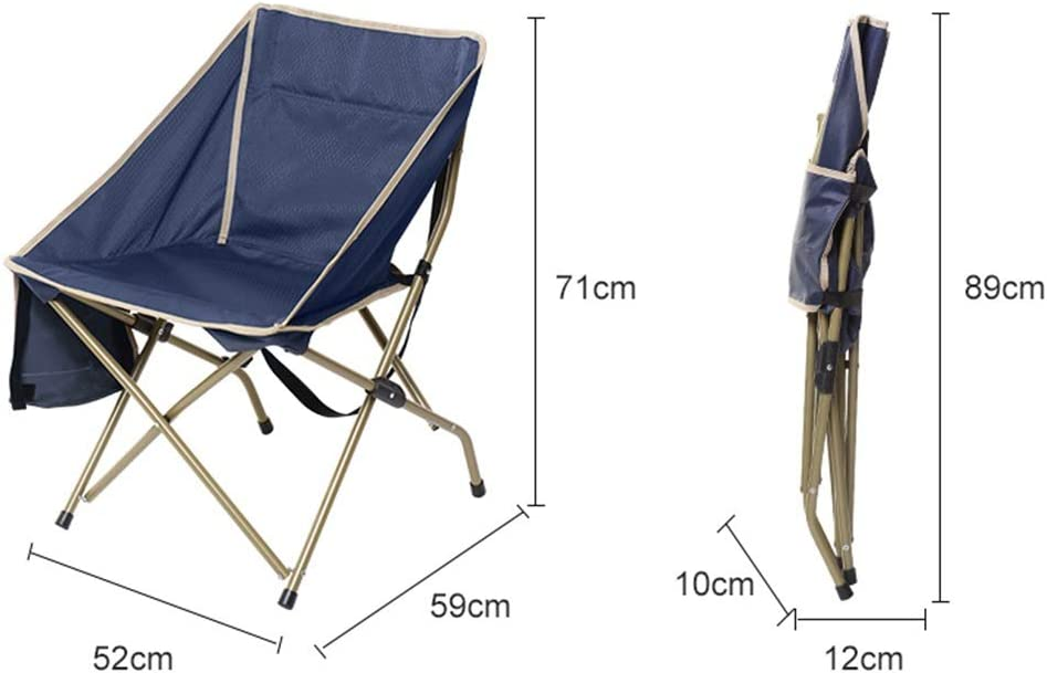 Axdwfd Deck chair Chair Folding Portable Home Beach Lounger Outdoor Fishing Lunch Break Gift, Lightweight And Easy To Carry, Blue, Gray, Green, 59 * 52 * 71cm (color : Blue) Green