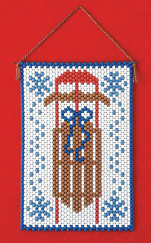 (Winter Sled Beaded Banner Kit Beadery Craft Products 7246 Pony Beads)