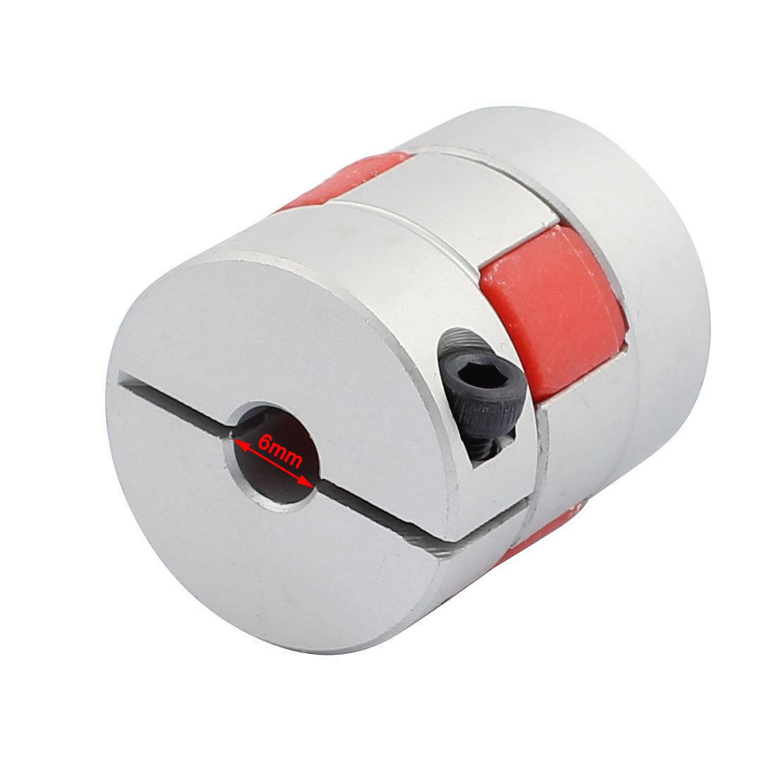 uxcell 8mm to 8mm Shaft Coupling 30mm Length 25mm Diameter Motor Coupler Aluminum Alloy Joint Connector for DIY Encoder
