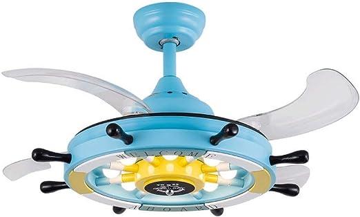 Luz de ventilador de techo Timón infantil habitación de niño ...