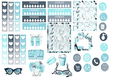 Oh Girl weekly planner sticker kit on 5 sheets of matte sticker paper. Choose your planner size from Erin Condren Vertical or Happy Planner Standard. Just peel and stick.