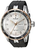Edox Men's 'Grand Ocean' Swiss Automatic Stainless Steel and Rubber Diving Watch, Color:Black (Model: 88002 357RCA NIR)